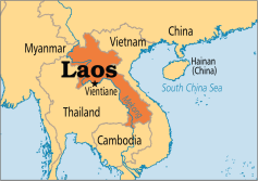 Map of Laos